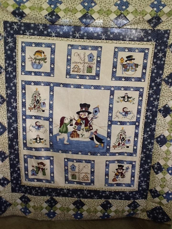 Snowman Panel Quilt Patterns Pinterest