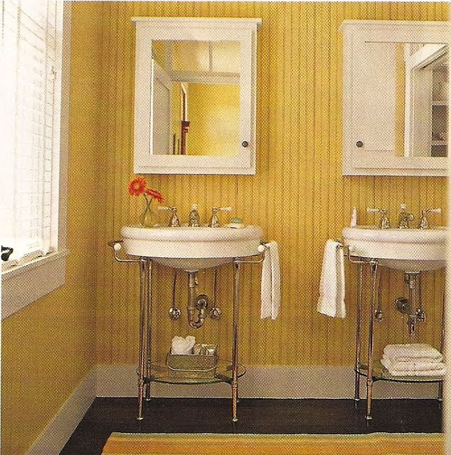 Bead board bathroom