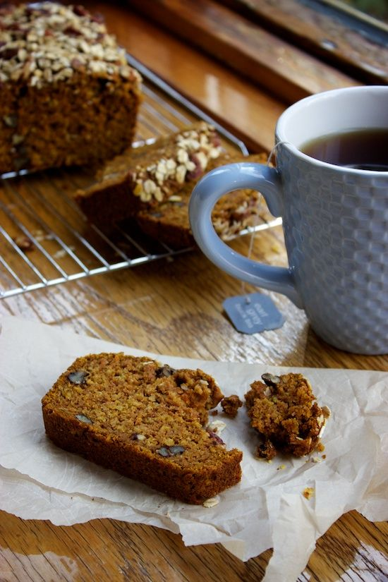 Pumpkin Oat Bread | A feel good snack bread, with the goodness of ...