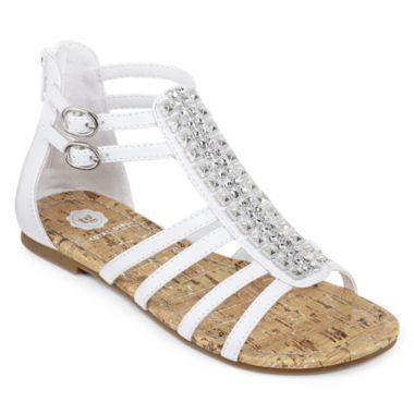 Silver Sandals Children Girls Silver Sandals Size 13 Size 12 55% Off