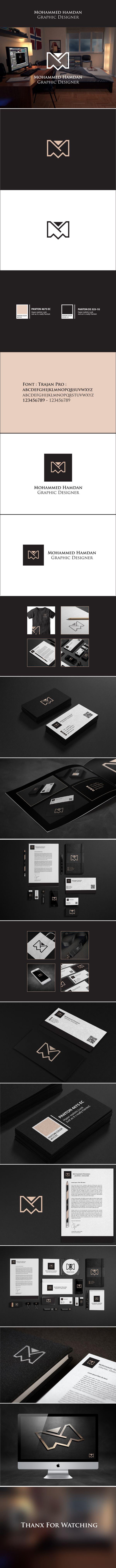 Personal Identity & Personal logo by mohammed hamdan, via Behance | #stationary #corporate #design #corporatedesign #identity #branding #marketing < repinned by www.BlickeDeeler.de | Take a look at www.LogoGestaltung-Hamburg.de