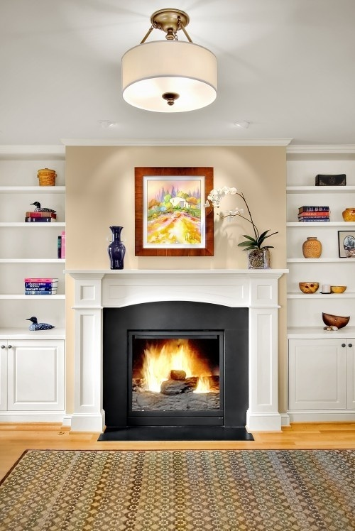 gas fireplace w built ins for the home