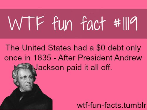 The u s national debt and president andrew jackson for Fun facts about the presidents