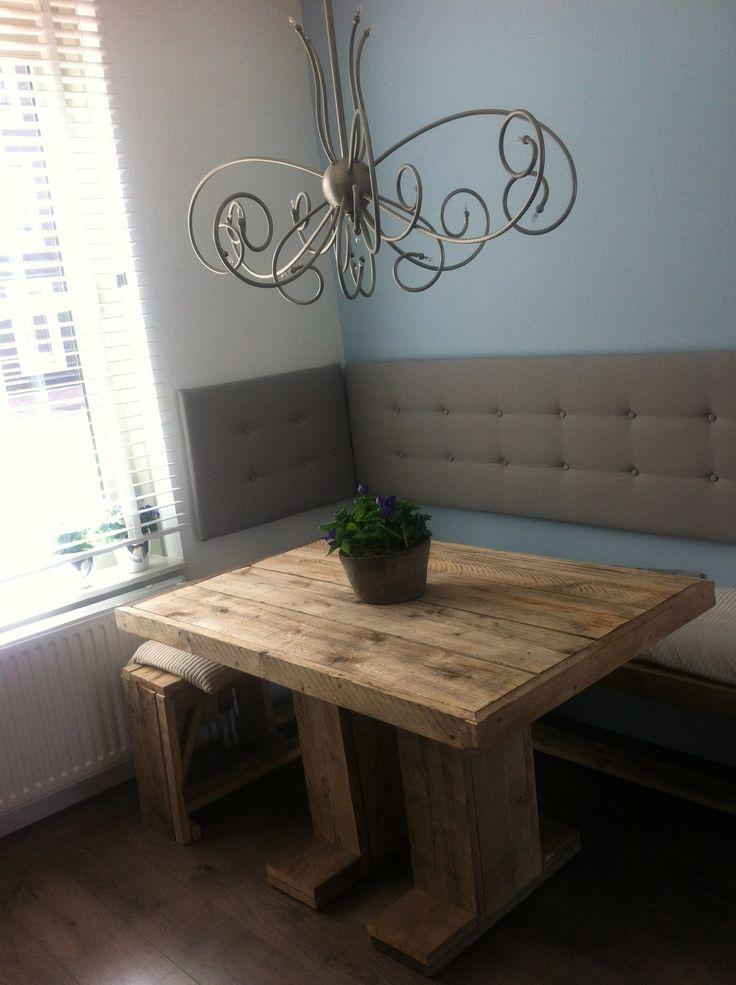 Eethoek van steigerhout  My Home  Pinterest