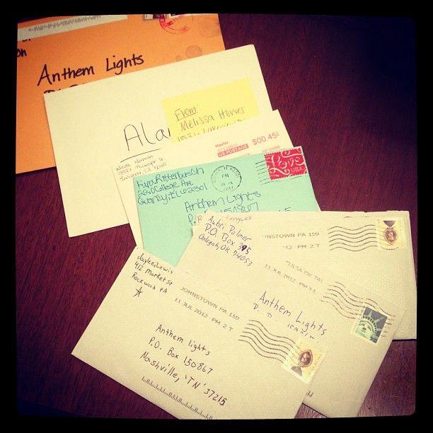 Lights fan mail work