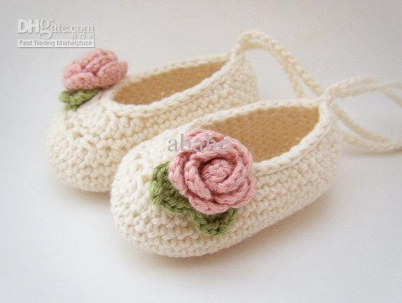 flower pattern crochet baby ballet shoes Quotes