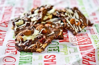 Almond-Cherry Chocolate Bark   for the candy jar   Pinterest