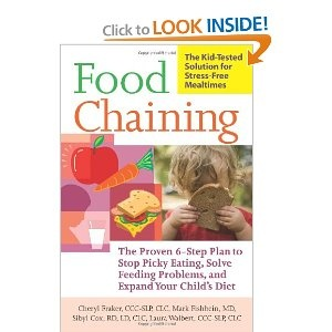 A method for getting picky eaters to eat and addresses lots of issues with special needs children such as texture aversion, cleft palate, gagging/vomiting, GERD, g-tube, etc.