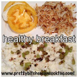 Healthy Breakfast Recipe w/ Egg Whites, Green Pepper + Shallots ...