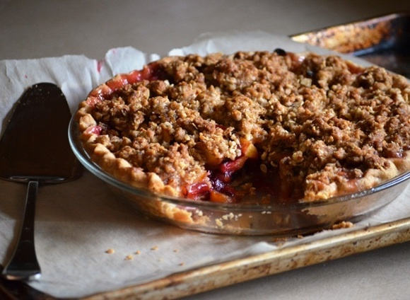 peach plum pie | Sweets and Treats | Pinterest