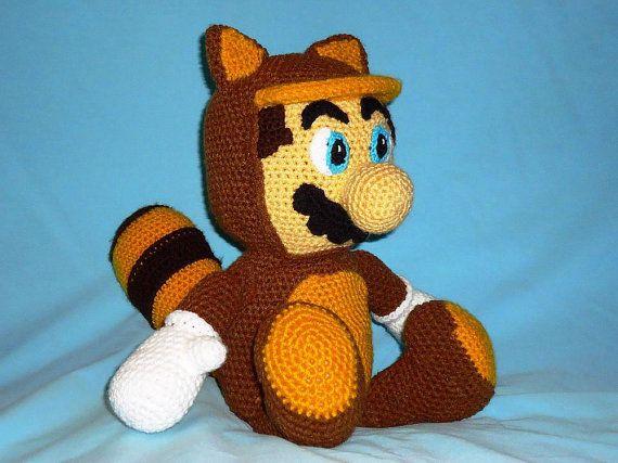 Tanooki Mario pattern geekery crochet raccoon amigurumi ...