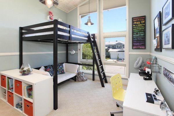 Couch under loft bed  Alexis Maree  Pinterest