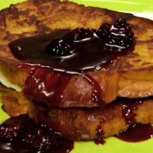 Pumpkin French Toast Stuffed with Blackberry-Caramel Mascarpone # ...