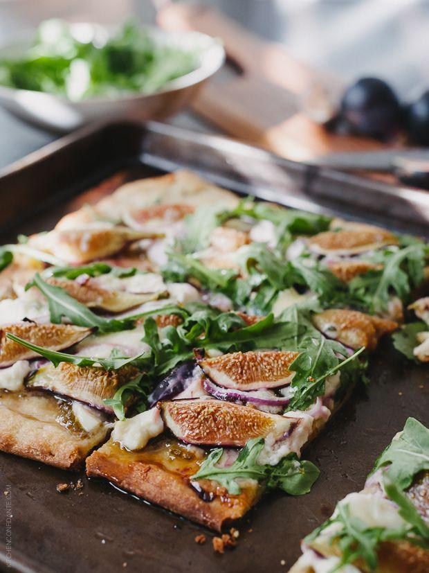Fig, Jalapeño Jam and Blue Cheese Pizza | www.kitchenconfidante.com ...