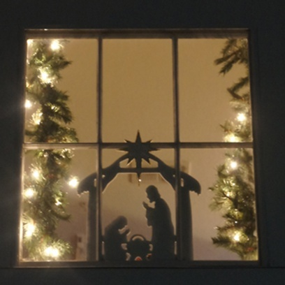 Nativity window silhouette christmas decor an ideas for 30 lighted nativity christmas window silhouette decoration