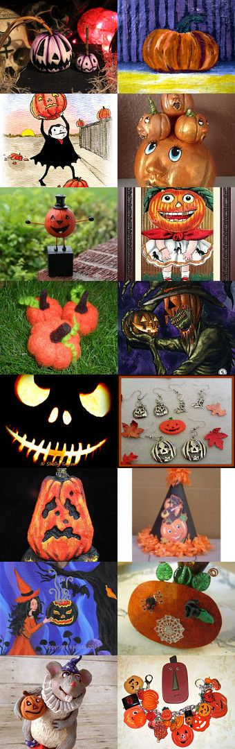 Pick a Pumpkin or Two!  by Jynxx on Etsy--Pinned with TreasuryPin.com #halloween #halloweenartistbazaar