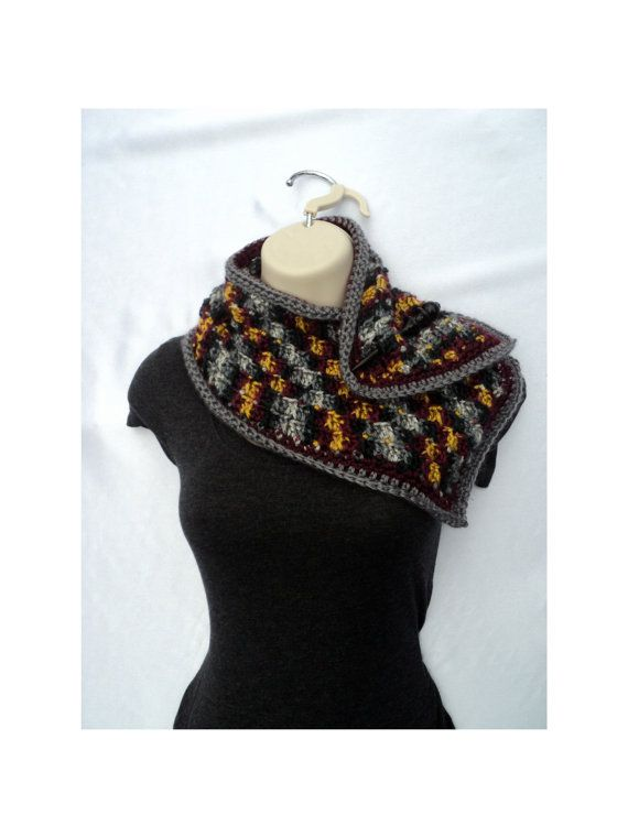Crochet Scarf Patterns Worsted Weight : Trellis Neck Scarf - neck warmer - Chunky and worsted ...
