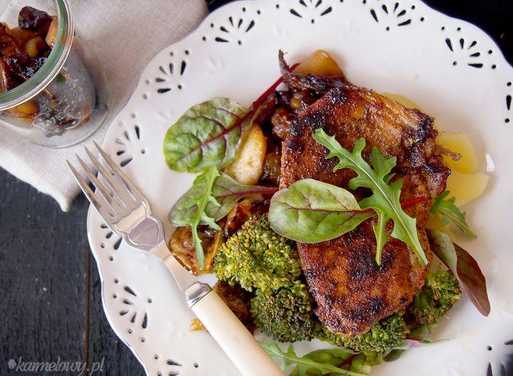 Spicy pork chops with apple chutney | Here Piggy Piggy! | Pinterest