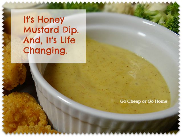 Honey Mustard Dip | Recipes, if I baked or cooked! | Pinterest