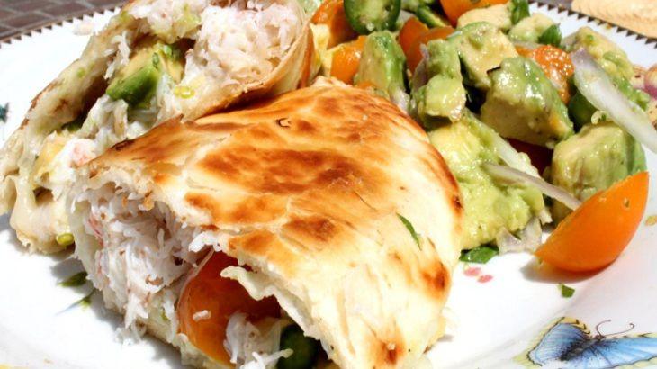 Crab and Avocado Quesadilla | Mexican Food | Pinterest