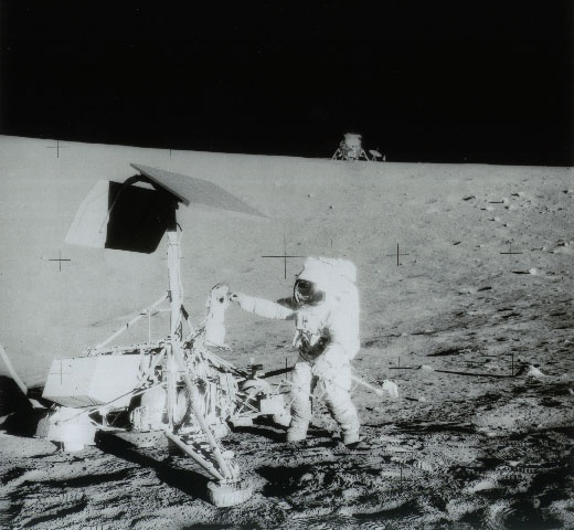 November 20, 1969: 1969: Apollo 12 astronaut Alan Bean grasps the Surveyor 3 TV camera (on Moon since 4/20/67) to return it to Earth. Photo credit: NASA