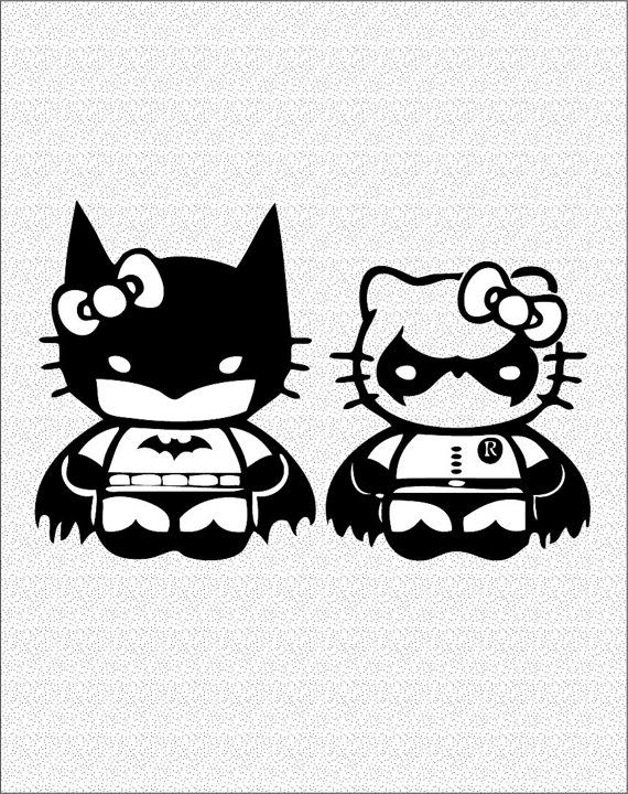 Batman Hello Kitty Tattoo Pin Rocks I See A Different Photo
