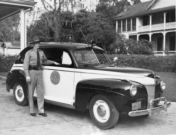 Florida highway patrol vintage vehicle