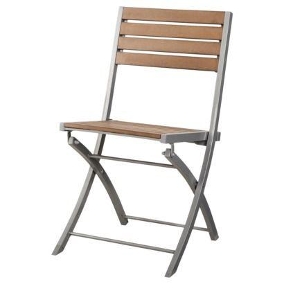 Threshold™ Bryant Faux Wood Patio Folding Chair