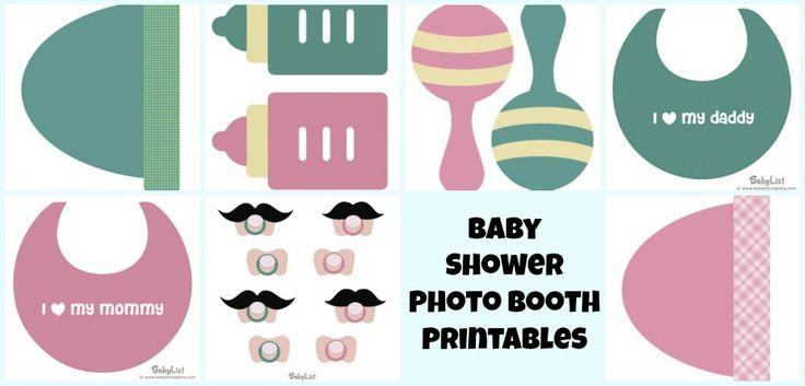 free baby shower photo booth printables baby shower pinterest