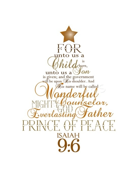 The mighty god the everlasting father the prince of peace christmas