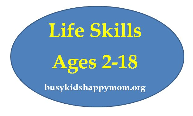 Life Skills - by age, what kids should be able to do for themselves and around the home. all which prepare kids for adult life.