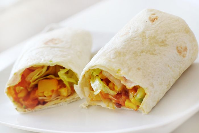 Hot Curry Chicken Wraps