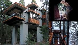 large modern treehouse