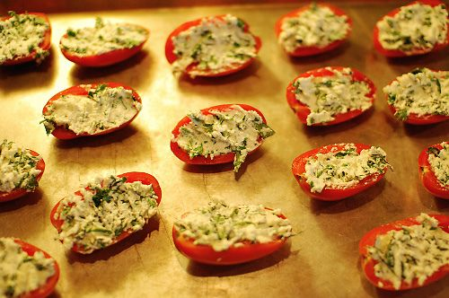 Pastor Ryan's Roasted Ricotta Roma Tomatoes. (Pioneer Woman)