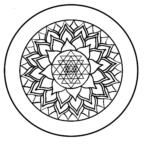 chakra mandala printable coloring pages - photo#28