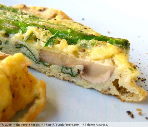 Asparagus, Mint and Mushroom Frittata | Breakfast | Pinterest