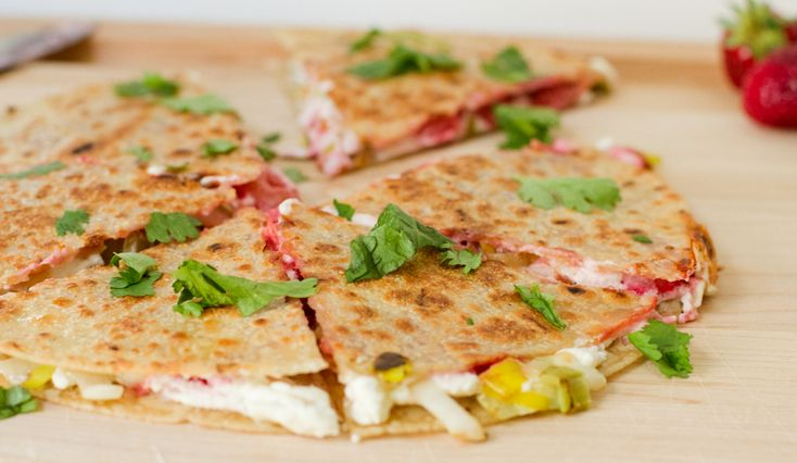 Strawberry and Leek Quesadillas - EAT Boutique; w leeks, strawberries ...