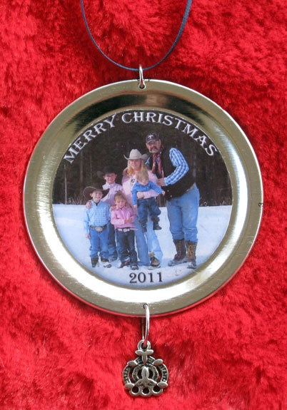 Photo  Mason  Jar  Lid  Ornaments