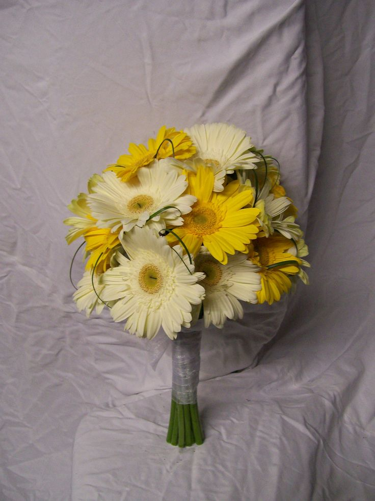 Yellow gerbera wedding