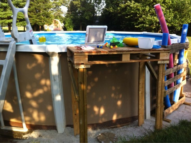 Pin by catina skiles on craft ideas pinterest - Above ground pool steps diy ...