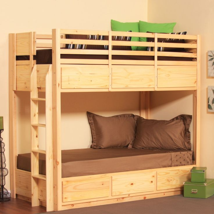 Twin bunk bed with 6 drawers pine - Kids bed with drawers underneath ...