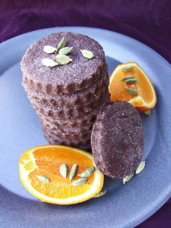 Chocolate Orange Cardamom Shortbread - Rich, Buttery and a touch exot ...