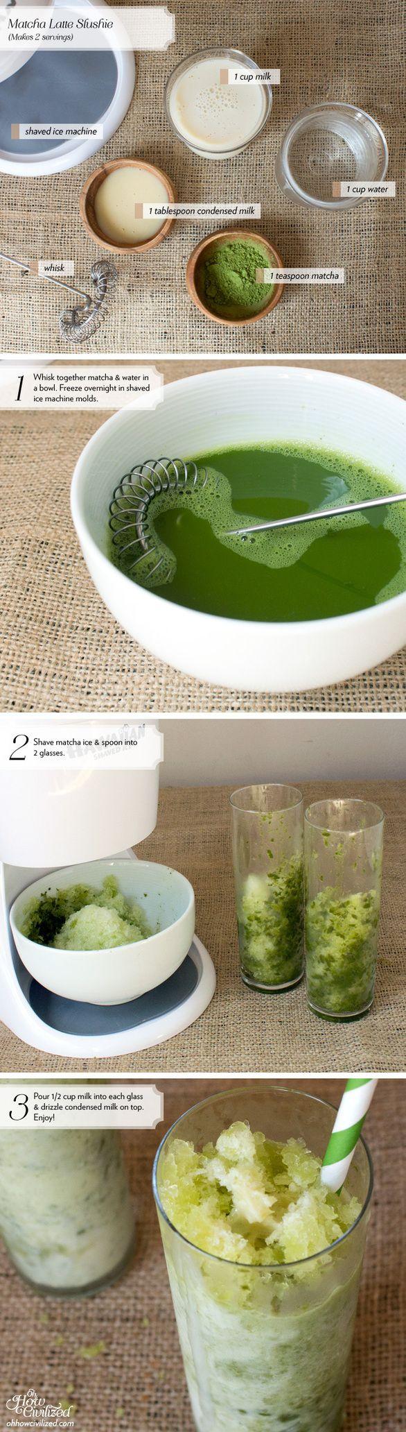 Matcha Tea Slushie With Boba Recipe — Dishmaps