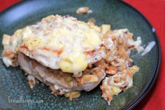 autumn stuffed pork chops - sub quinoa for rice, sub roasted fennel ...