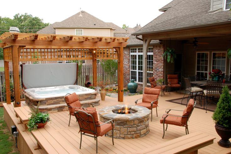 Installing Hot Tub In Backyard : Side Yards