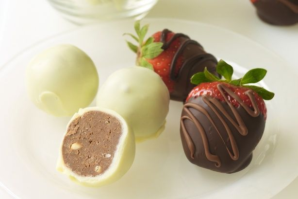 ... at how easy it is to make these decadent and delicate truffles