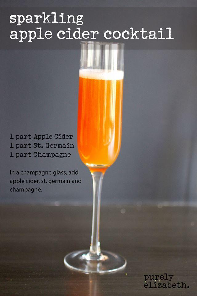 sparkling apple cider cocktail | Happy Hour | Pinterest