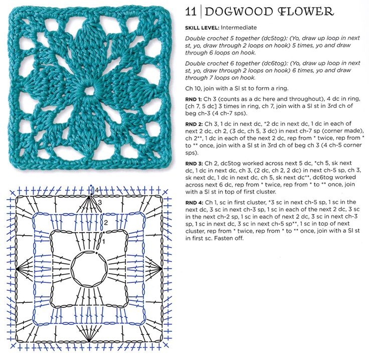 Free Crochet Granny Square Clothing Patterns : dogwood flower motif crochet: granny squares Pinterest