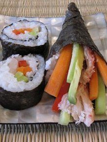 sushi cut amp handrolls weelicious really need to try and make my own ...