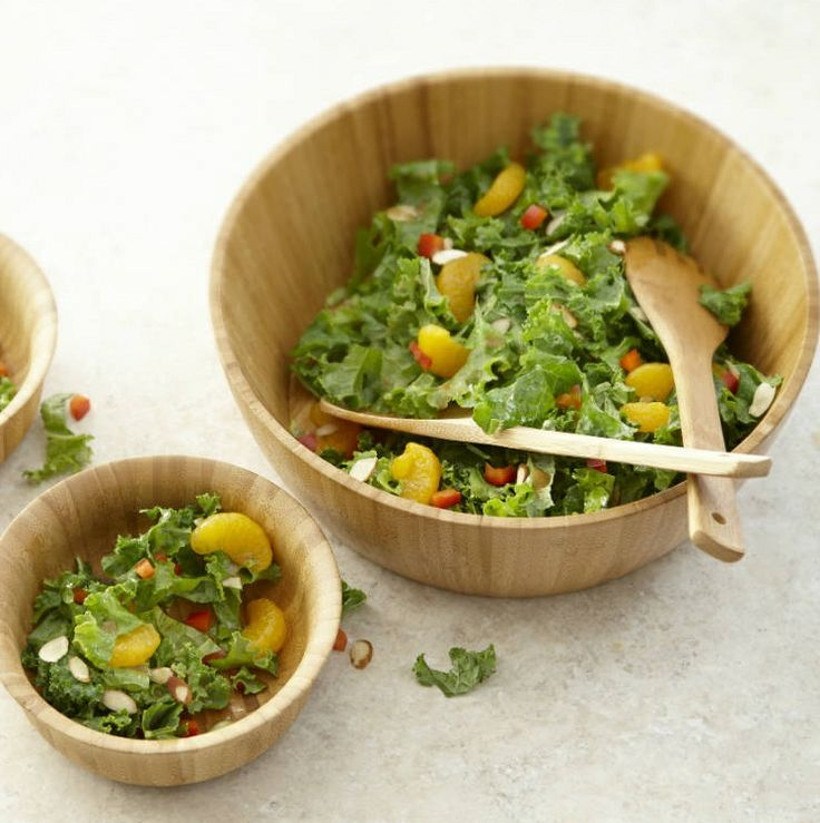 Toss raw kale with an Asian Vinaigrette and serve with mandarin ...